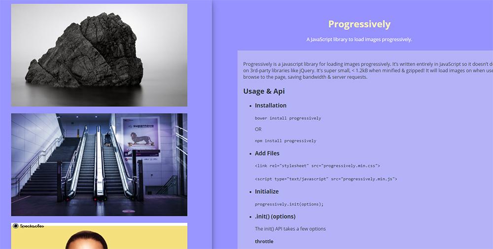 "Lazy-load Images Progressively with ""Progressively"""